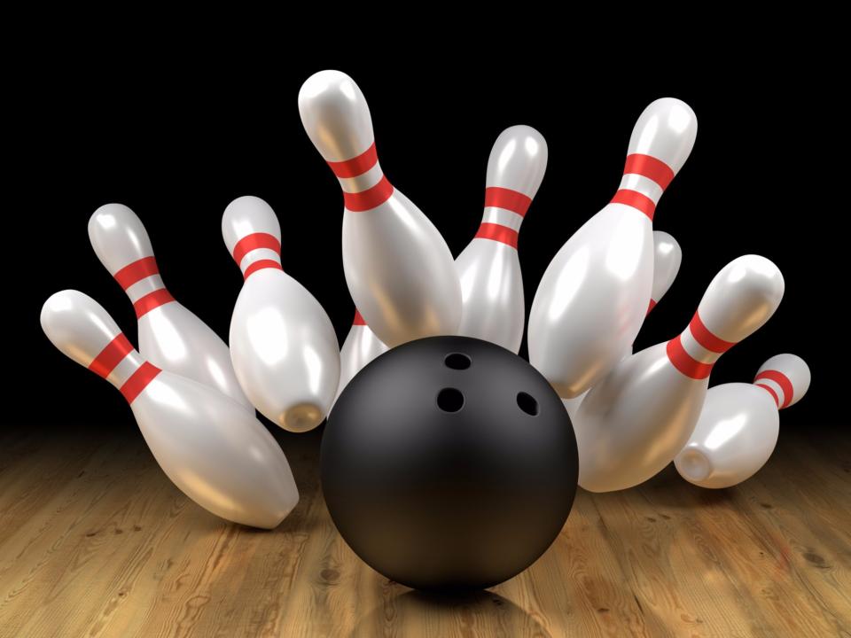 Bowling balls & pins