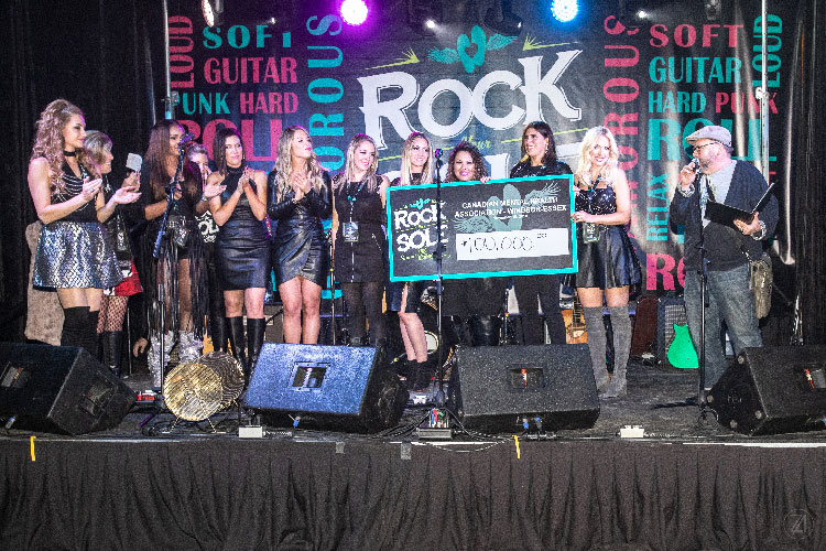 Rock Your Sole cheque presentation