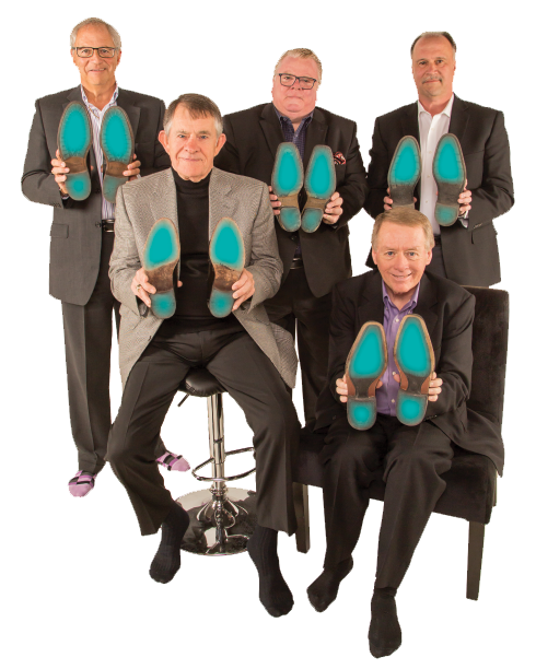 Circle of Seven showing their soles