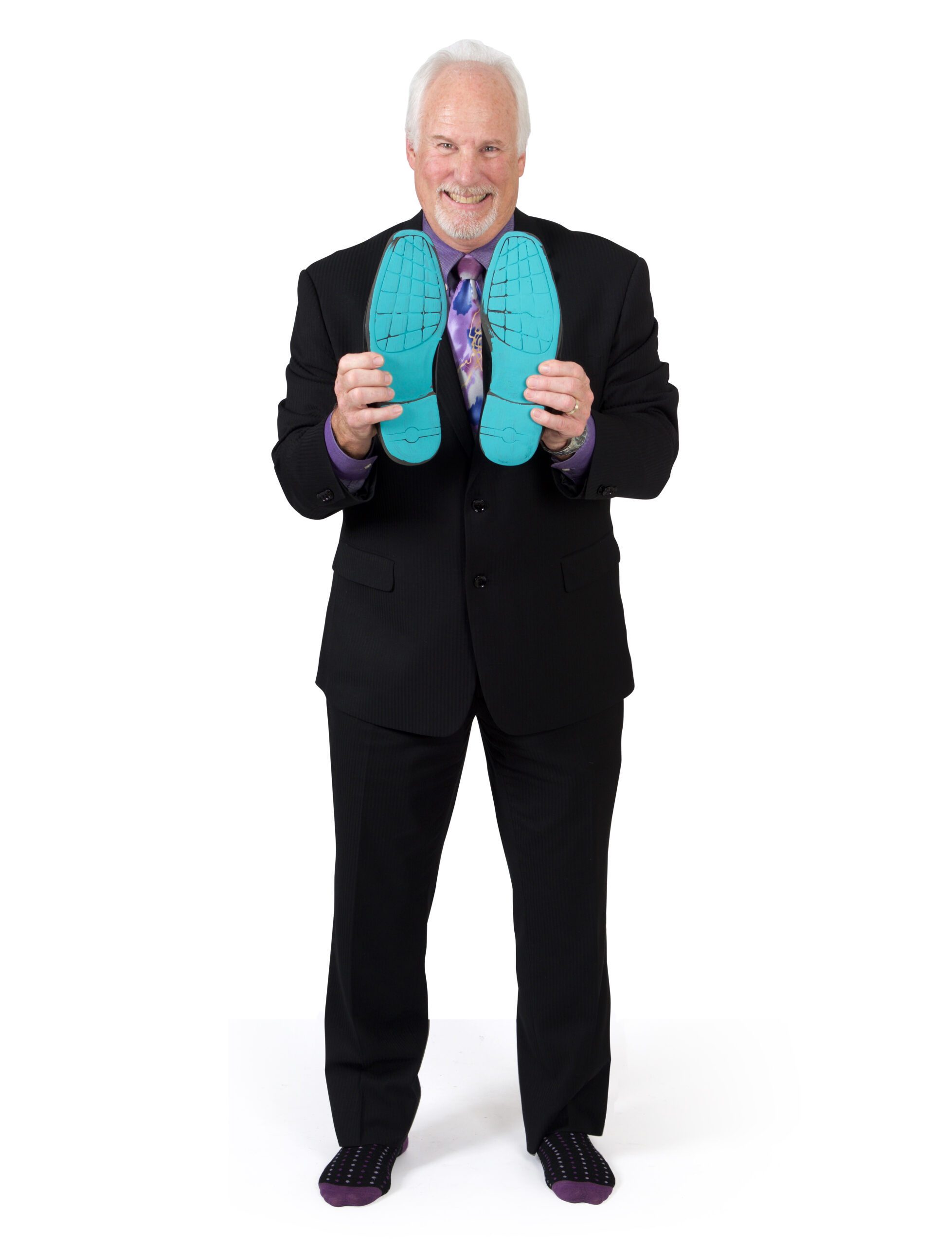 Gerry Cooper showing his sole