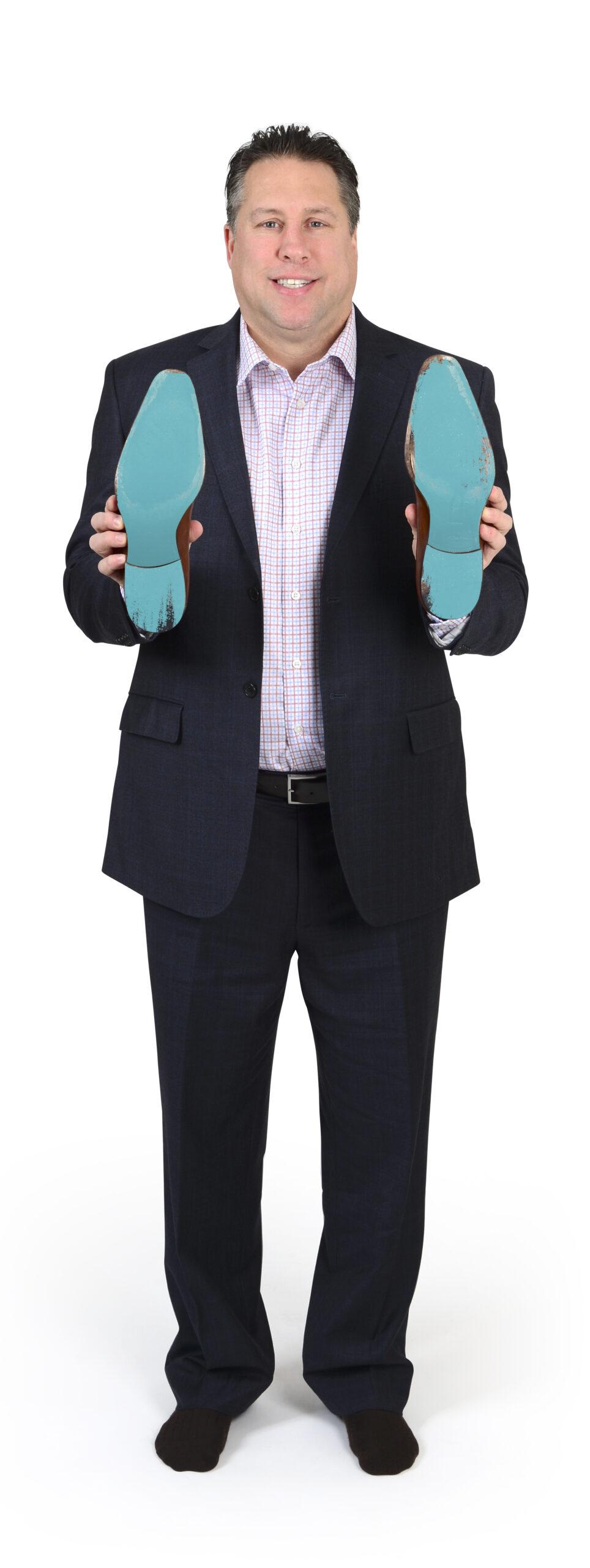 Warren Rychel showing his sole