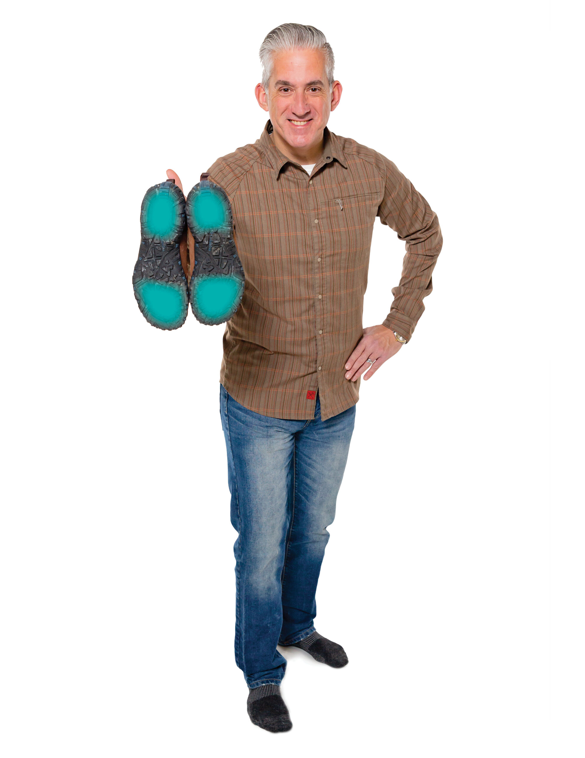 John Scott showing his sole