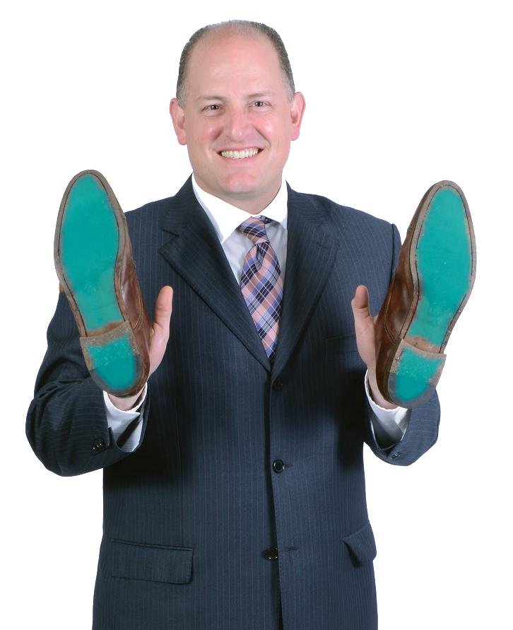 Mayor Dilkens showing his sole
