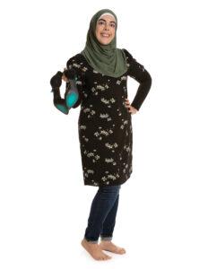 Hiba Hamed showing her sole