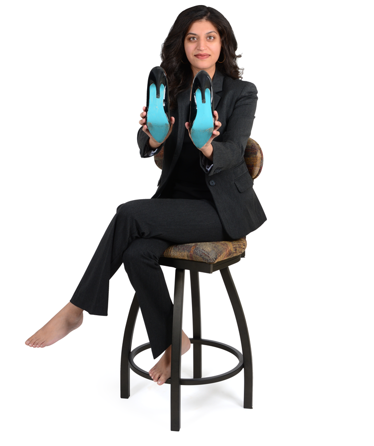Dr. Rabia Toor showing her sole