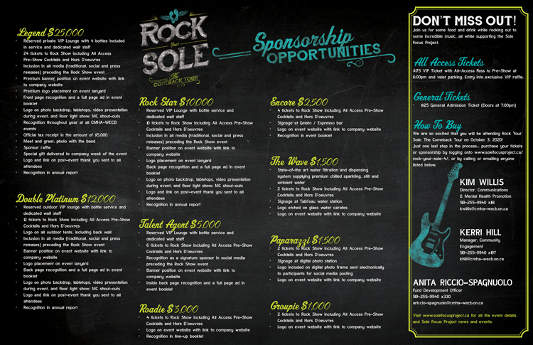 Rock Your Sole 4 Sponsorship